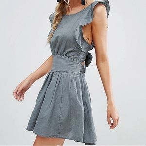 New Erwin frill shoulder dress